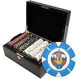 Claysmith Gaming Rock and Roll Poker Chip Set, Black/Mahogany, 13.5gm
