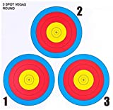 .30-06 Outdoors 3 Spot Vegas Mini Paper Target (100 Count), Red/Blue/Yellow