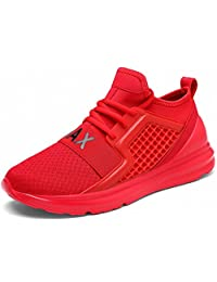 Weweya Men's Running Shoes Lightweight Breathable Casual Sports Shoes Fashion Sneakers Walking Shoes