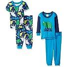 Gerber Baby Boys' 4 Piece Cotton Pajama Set, Dino Roar, 12 Months