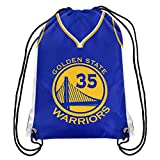 Forever Collectibles Golden State Warriors Official Drawstring Backpack Gym Bag - Kevin Durant #35