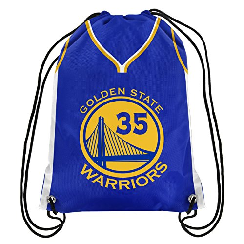 Forever Collectibles Golden State Warriors Official Drawstring Backpack Gym Bag - Kevin Durant #35 by Forever Collectibles