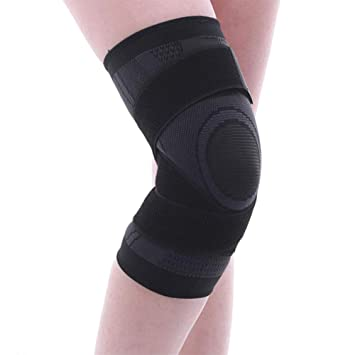 69b2d26456a 3D Weaving Sports Knee Pads Compression Knee Brace Basketball Tennis Hiking  Cycling Knee Support Protective Sports