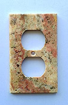 Scabos Travertine Switch Plate Cover Duplex - 2.75 X 4.5 IN