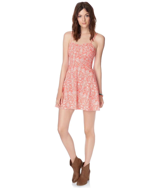 Aeropostale Womens Sweetheart Floral A-Line Dress