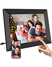 TEKXDD Digital Photo Frame, 8 Inch Smart WiFi Cloud Digital Picture Frame with HD 1280x800 IPS LCD Touch Screen Display, 16GB Storage, Auto-Rotate, Share Photos and Videos Instantly via Frameo App from Anywhere - Black