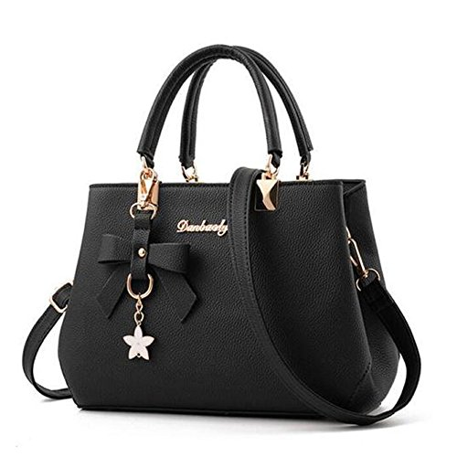 Women Messenger Bag PU Leather Crossbody Satchel Shoulder Handbag - 3