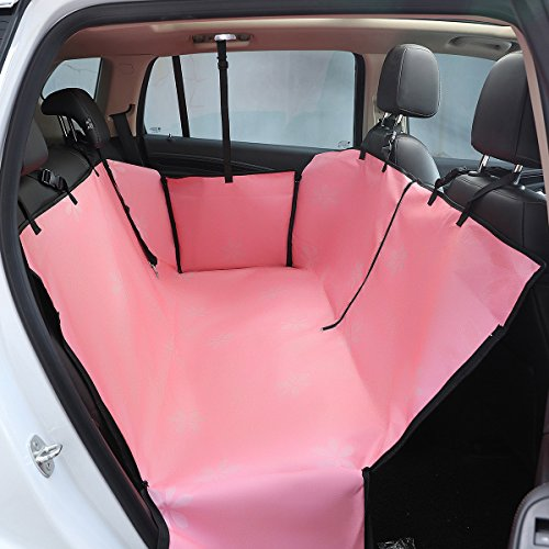 Vedem Waterproof Car Pet Back Seat Protector Zipper Car Dog Travel Seat Cover (Pink) Review