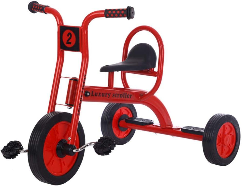 WYX Toddler Trike Grade Kindergarten Mi Primer Triciclo para Principiantes De Trike Pedaling para Patios Y Patios Escolares,Red