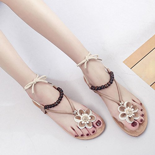 Summer joya Khaki Shoes Elegante mar Summer chanclas con OiPkulwXZT