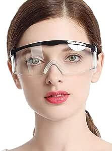 Fashion Safety Goggles 10pcs Protective Glasses, Crystal Clear Eye Protection,Dust-Proof Breathable Laboratory Dustproof Glasses,Splash,Anti-Fog,Medical Surgical Eyewear for Unisex Use (100pcs)
