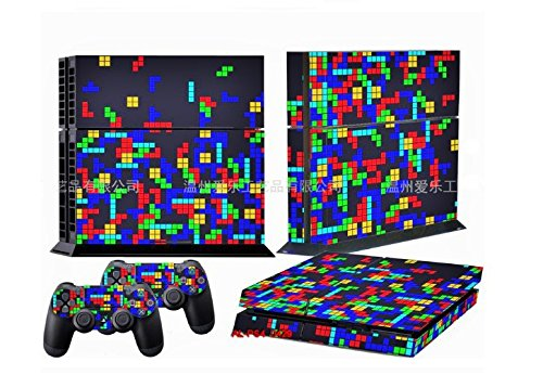 LLC Integral - Style Decal Cover for Sony PlayStation 4 slim PS4 Console Gamepad pack Sticker + 2 Skins stickers for dualshock 4 Controller
