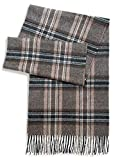 Tartan Plaid Flannel Scarf - 100% Baby Alpaca Wool - Unisex - Dye Free, All Natural, a stylish accessory or gift for any Man or Woman (Guinness)