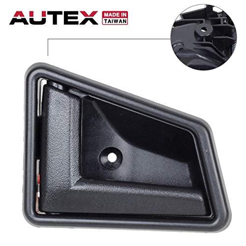 (AUTEX Interior Front/Rear Left Driver Side Door Handle Compatible with Suzuki Sidekick 1991 1992 1993 1994 1995 1996 1997 1998 Door Handle 8313056B015ES)