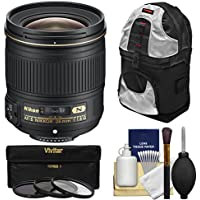 Nikon 28mm f/1.8G AF-S Nikkor Lens with 3 UV/CPL/ND8 Filters + Sling Backpack + Kit for D3200, D3300, D5200, D5300, D7000, D7100, D610, D800, D810 & D4s DSLR Cameras