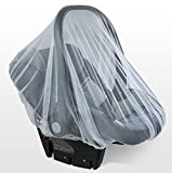 Baby Mosquito Net for Strollers, Carriers, Car Seats, Cradles. Fits Most Pack&Plays, Cribs, Bassinets & Playpens. 70cm x 80cm, Made of White, Portable & Durable Baby Insect Netting