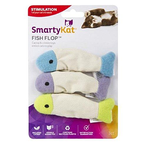 SmartyKat® Fish Flop Set of 3 Crinkle Catnip Toys