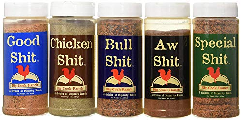 Bbq Spice - Special Shit - Shit Load Big 5 Sampler (Pack of 5 Seasonings with 1 each of Bull, Special, Good, Aw, Chicken