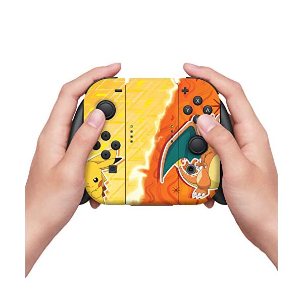 Controller Gear Nintendo Switch Skin & Screen Protector Set - Pokemon - Pikachu Vs Charizard Set 1 - Nintendo Switch 5