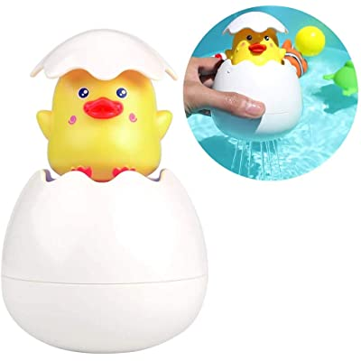 Noseeyou Duck Bath Toy Squirt Toy Creative Cute Baby Fun Floating Duck Egg Sprinkler Bathtub Toy Water Toy Pool Toy for Kids: Sports & Outdoors