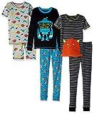 Simple Joys by Carter's Boys' Little Kid 6-Piece Pajama Set, Monster/Dino, 6