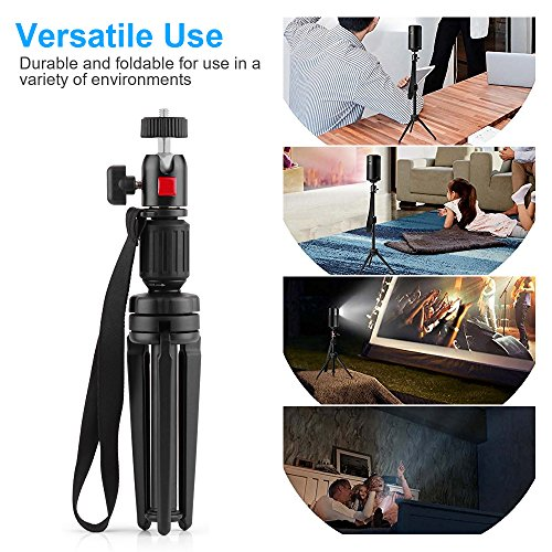Nebula Capsule Adjustable Tripod Stand, Myriann Aluminum Alloy Portable Projector Stand for Pico Projector, Pocket Projector, and Mini Projector with Universal Mount and Swivel Ball Head by MYRIANN (Image #1)