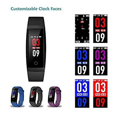 GOOPOW Fitness Tracker, Activity Tracker,Heart Rate Monitor Wireless Smart Wristband Bracelet, Waterproof Fitness Watch with Replacement Band for Android & iOS
