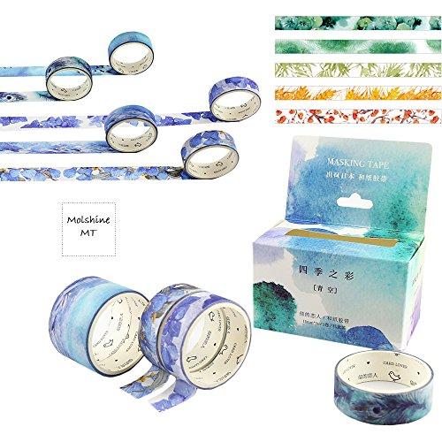 molshine-10-in-2-decorative-japanese-washi-masking-adhesive-tape-four-seasons-color-series-collectio