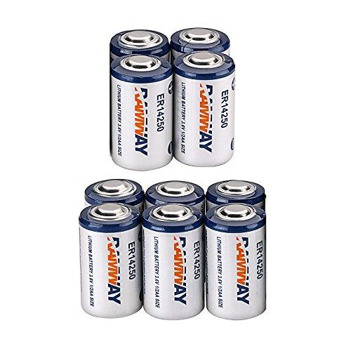 10 x Li-ion 3.6V 1/2AA ER14250 LS14250 ER14250H 1200mAh Meter Battery Household Batteries