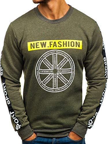 1a1 Capuche À Le Inséré 8689 Rond Col Homme Sans Sportif Vert Tête La Bolf Travers Style Sweatshirt Imprimé EwRZZq