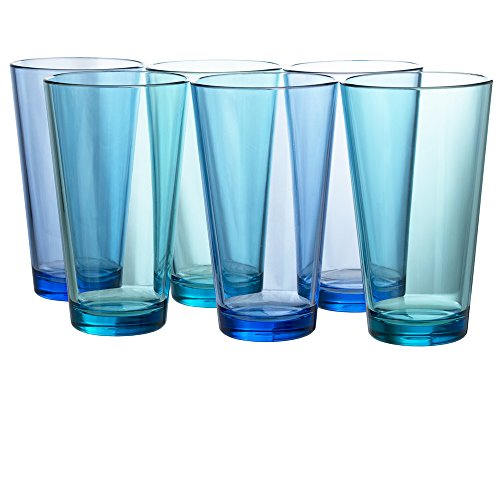 - Bistro Premium Quality Plastic 20oz Water Tumbler | Set of 6 Multicolor