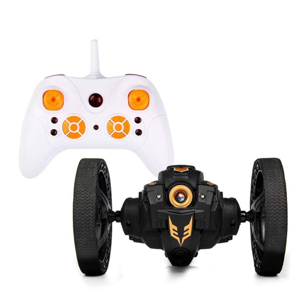 Black Regular PerGrate RC Impact Car with LED Lights 2.4GHz Flexible Wheels redation Robot Car Toys, yellow, WiFi