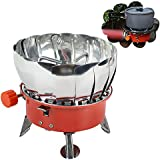 Carejoy Windproof Camping Stove Portable Camping Gas Stove Mini Outdoor BBQ Grill Stove Backpack Picnic Burner