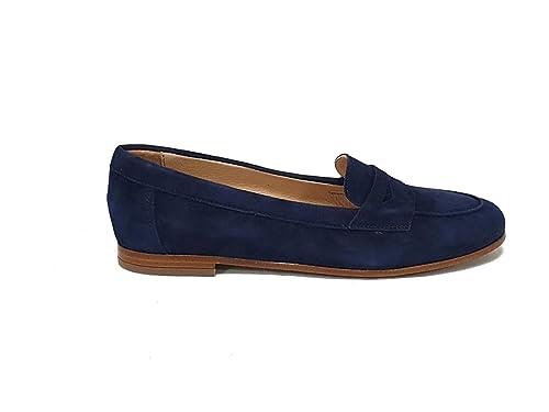 FRAU Mocassino - Mocasines de Ante para Mujer Azul Navy: Amazon.es: Zapatos y complementos