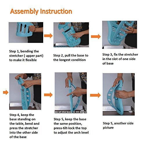 Vanshi Back Stretcher, Lumbar Stretching Device with 3 Adjustable Arched Levels, Lower and Upper Back Pain Reliever, Back Massage and Lumbar Support for Chair Car Seat and Yoga Sports by Vanshi (Image #3)
