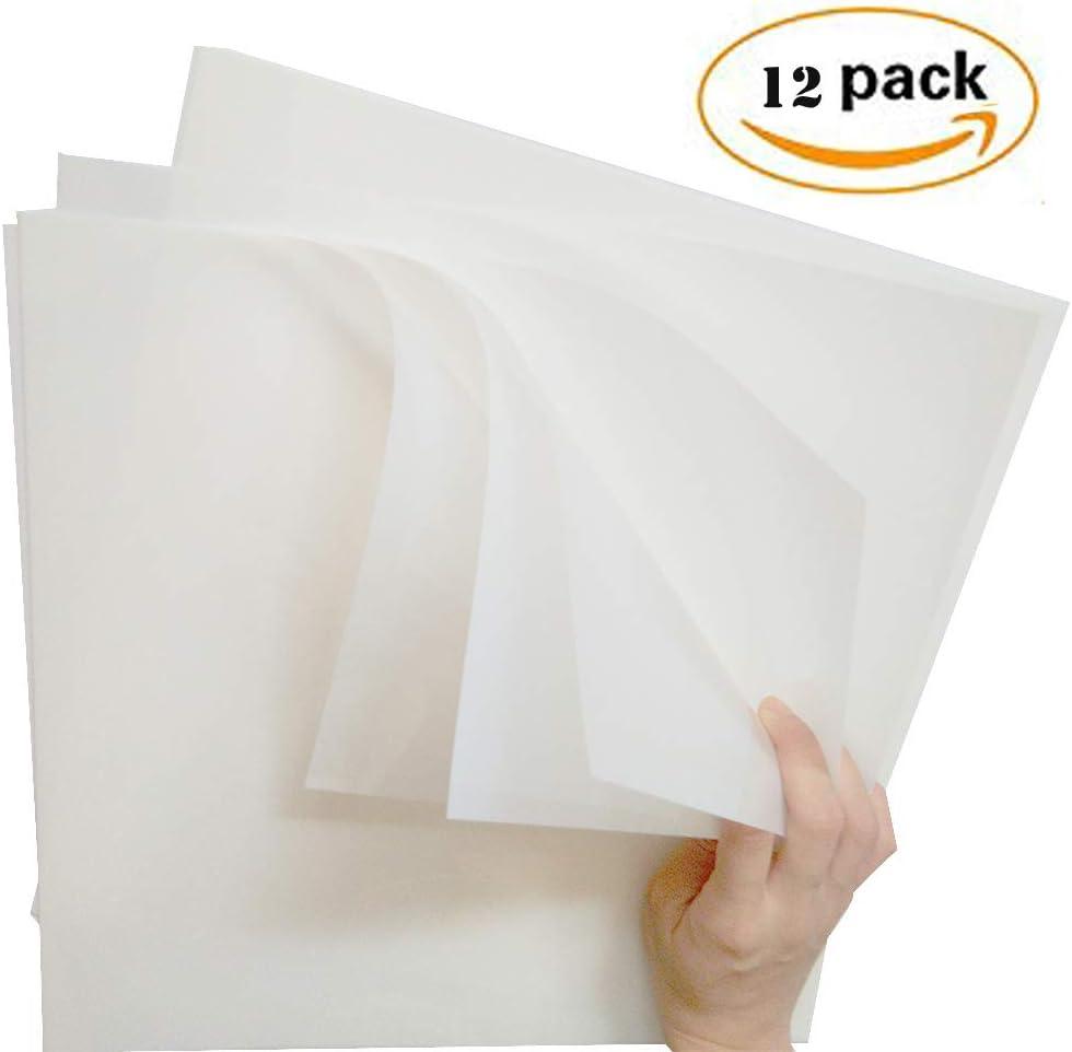 12 St/ück 6 Mil 30,5 x 30,5 cm blanko Schablonen zum Herstellen von B/ögen Schablonenbl/ätter f/ür Cricut 12 x 12 inch 12 Pack-12x12inch Tintenstrahl-Kunststoff umweltfreundlich DIY Malen Zeichnen