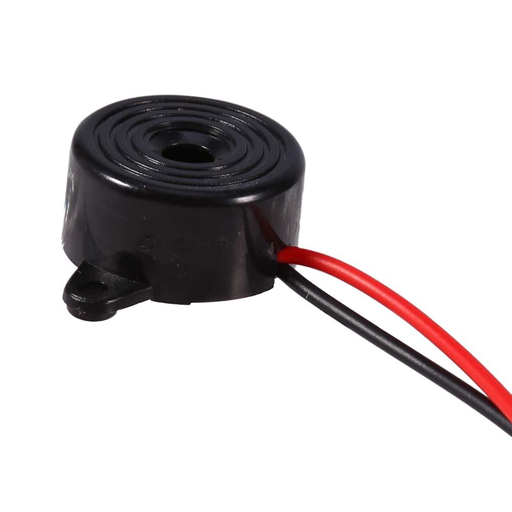 Zumbador electr/ónico de 3-24 V impresoras Zumbador de tono piezoel/éctrico de 85 a 95 decibeles Longitud del cable 100 mm Ampliamente utilizado en computadoras fotocopiadoras