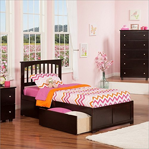 Mission Queen Flat Panel Foot Board w/ 2 Urban Bed (Mission Style Twin Footboard)