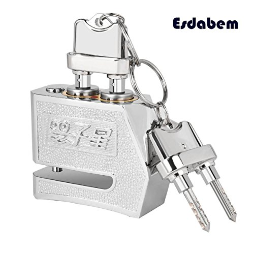 Esdabem Anti-theft Motorbike Disc Lock - Motorcycle Scooter Bike Dual Key Lock by