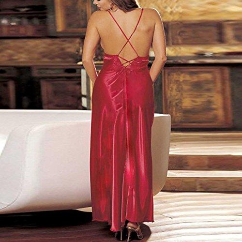 Erotica in Intimo Abito dalla in Camicia Sexy Gonna Vestito Rosso Tulle Abito Donna Pizzo Interno in Lungo Notte Lingerie Donna Lingerie con da Sexy Sexy JiaMeng Pizzo Lunga Sexy Strappy da wqnXSYnE