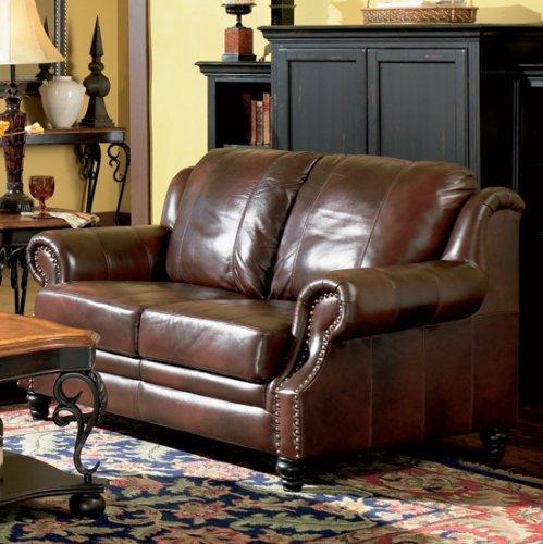 2 PCs Classic Tri Tone Leather Sofa and Loveseat Set