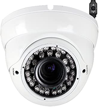 8x 960p 36 IR 2,8-12mm Wide Angle Manual Zoom Varifocal Lens Outdoor Dome Camera