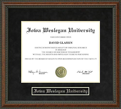 - Wordyisms Iowa Wesleyan University Walnut Burl Diploma Frame
