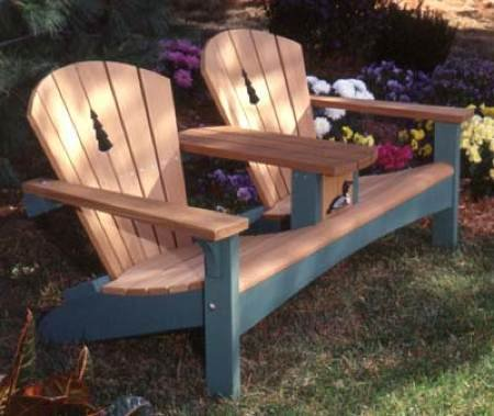 A Woodworking Pattern and Instructions Pkg to Build Your Own Double Sette Furniture (Outdoor Glider Chair Plans)