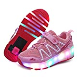 Boys Girls Rechargeable Roller Shoes Colorful USB Charging Roller Skates Shoes LED Light Shoes