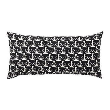 Ikea Noir Chat Blanc Taie D Oreiller Coussin Coton 30 5 X 61
