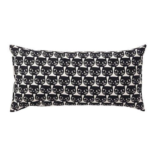 Ikea Negro Blanco cojín Throw Almohada de algodón 12 x 24 ...