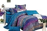 Swanson Beddings Fantasia 3-Piece 100% Cotton Bedding Set: Duvet Cover and Two Pillow Shams (King)