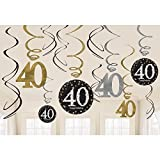 Celebrate 40 Hanging Swirls