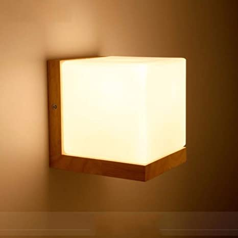 Industrial Vintage Wall Sconces Solid Wood Art LED Wall lamp ...